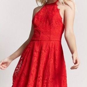Forever 21 Dresses - NWT F21 LACE HALTER DRESS SZ M